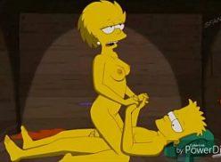 Bart e Lisa maiores de idade no simpsons hentai