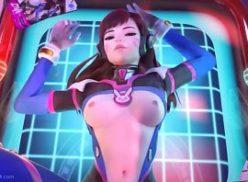 Diva safada no overwatch hentai sendo comida
