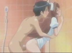 Linda  magrinha no banho em e-hentai sendo fodida