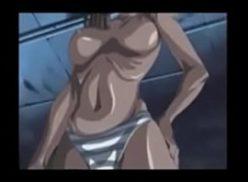 Linda mulher no desenhos hentai em foda