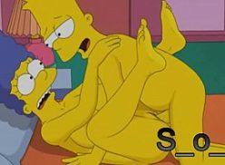 Marge safada dando no hentai simpsons