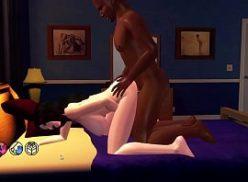 Linda gostosa no hentai interracial dando